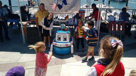 Roboter demo GERMAN SCHOOL open house Newport Beach Sea Base