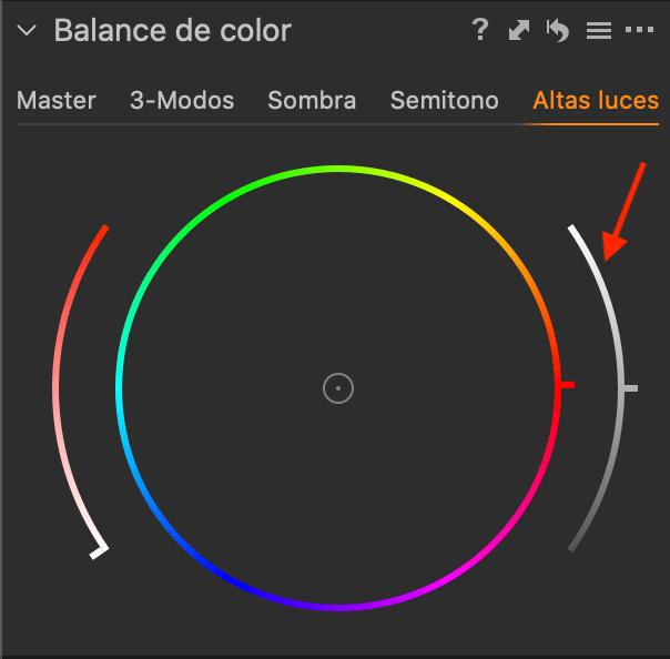 Balance de color - Luminosidad