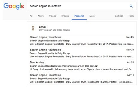 Google personal results 2