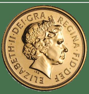 gold sovereign Elisabeth II obverse