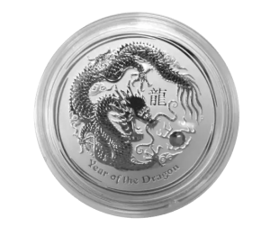 2012 year of the dragon 1 kilo silver coin