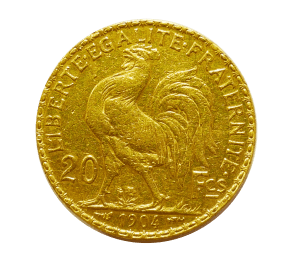 20 French Francs Marianne Rooster gold coin obverse