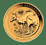 2021 1oz Gold Kangaroo Coin reverse