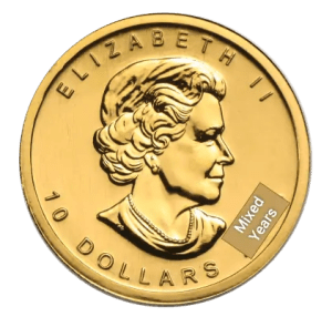 1/4 oz Gold Maple Leaf coin (reverse)