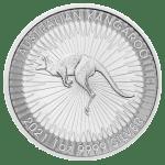 2021 1oz Silver Kangaroo coin reverse