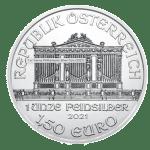 2021 1oz Silver Philharmonic Coin obverse