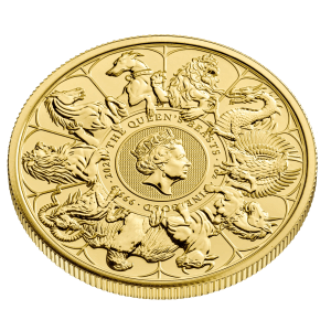 2021 1oz Gold Queen's Beasts Completer Coin reverse edge