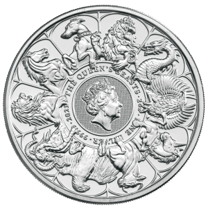 2oz Silver Queens Beasts Completer Coin reverse