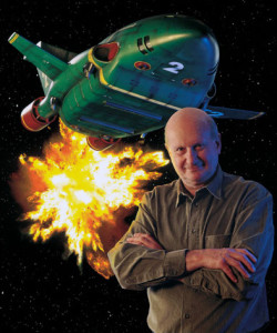 Gerry Anderson with Thunderbird 2