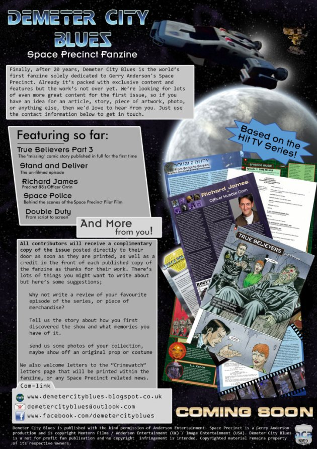 space precinct fanzine Demeter City Blues