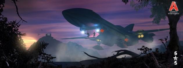 Zygron Stealth ship LANDING