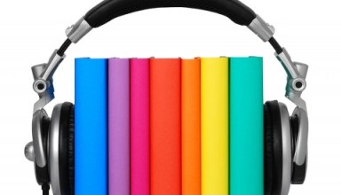 Gerry Anderson books with headphones on