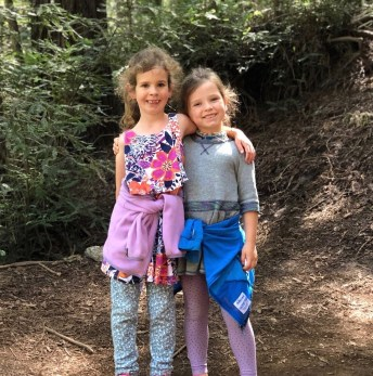 Eleanor and Sabrina, 9 and 6 1/2. They love animals, swimming, crafts, and cousins.