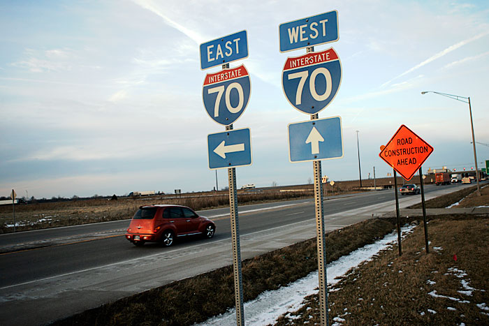The southwest corner of the Interstate 70 and Ind. 3 will be the home to a new Mr. Fuel station. (C-T photo Max Gersh)