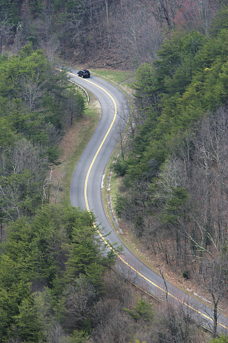 A road seen from the tower at Look Rock. ©2011 Max Gersh