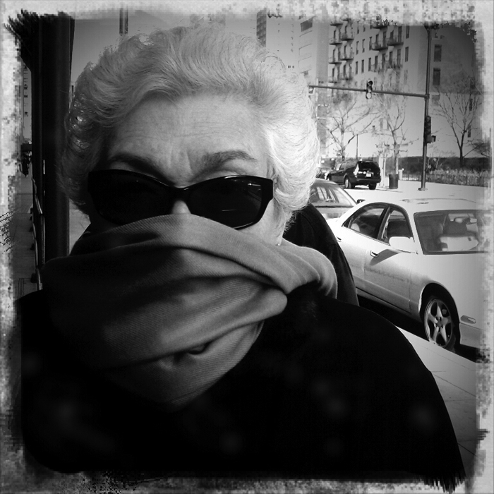 My grandma in downtown Chicago. Shot using Retro Camera on a Droid Incredible ©2011 Max Gersh