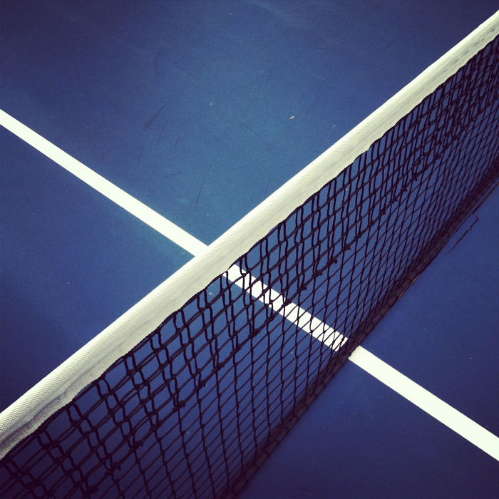 A court at the Guilford Tennis Center in Rockford. Shot using Instagram on an iPhone 4. ©2012 Max Gersh