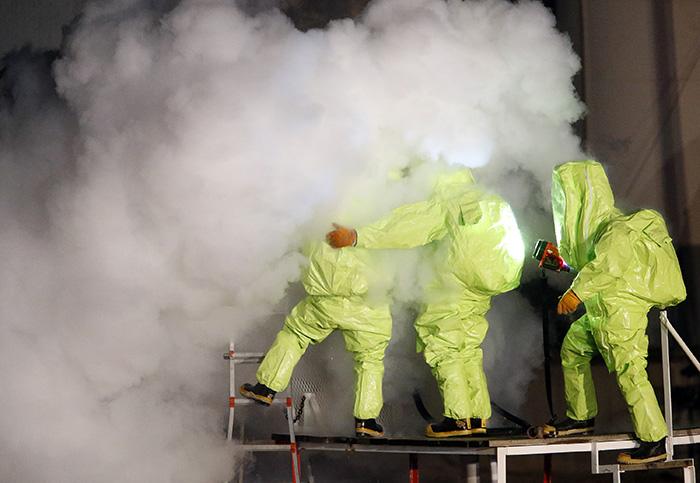 Anhydrous ammonia leak