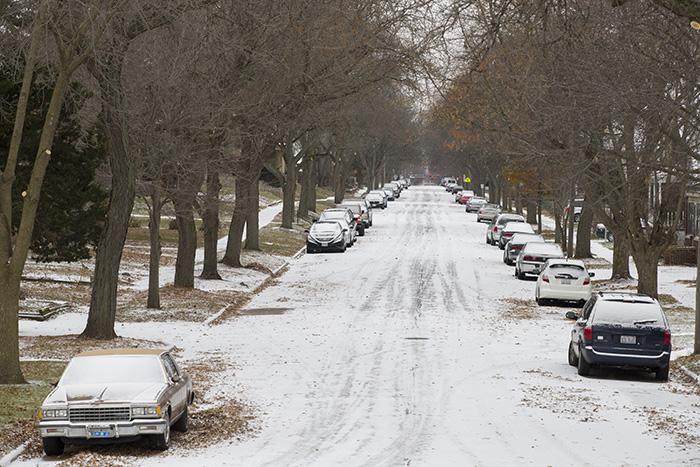 Snowy First Street