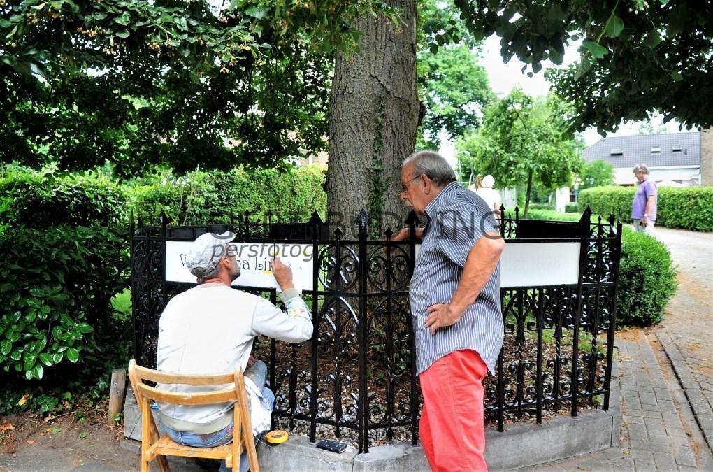 Albert Zïeck verfraait Wilhelminalinde monument