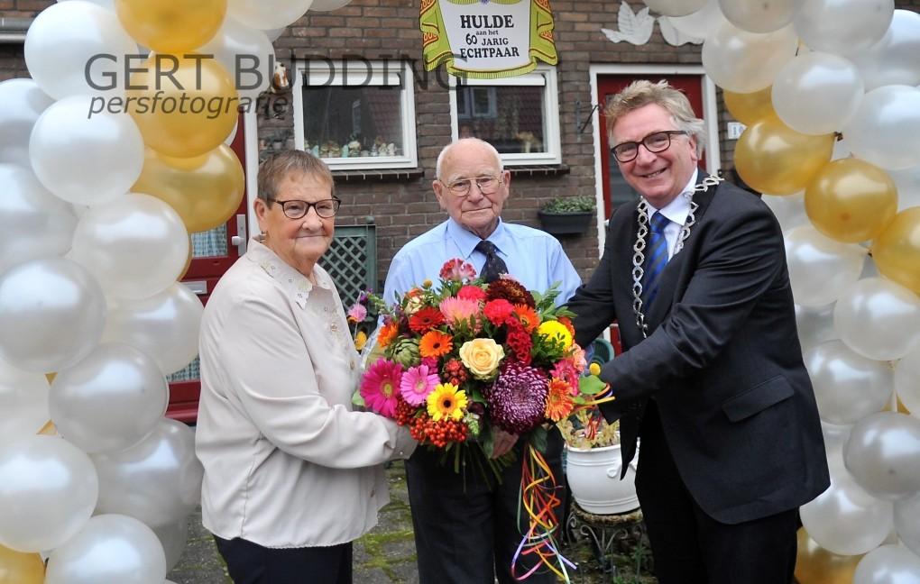 Joke en Teus Marchal uit Wageningen 60 jaar gehuwd