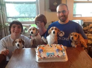 Birthday celebrations with our rescue rascals 08.18.2014