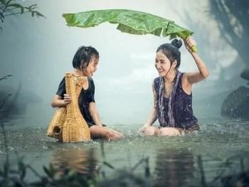 water rain