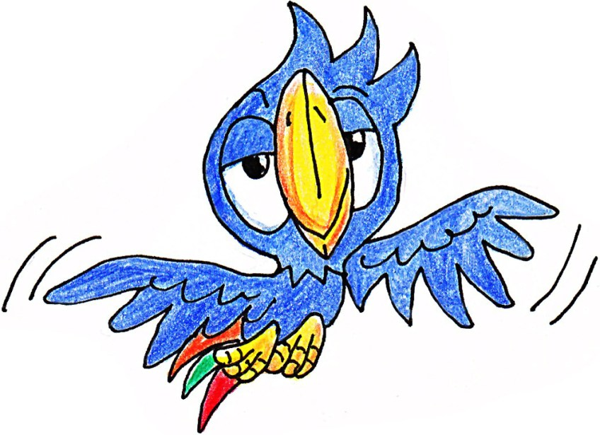 FAW_Maskottchen Fawi_fliegend