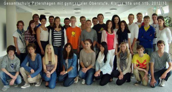 Klassenfoto11a,b, Jahrgang 2012/13