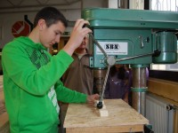 Praxislernen in der Holzabteilung