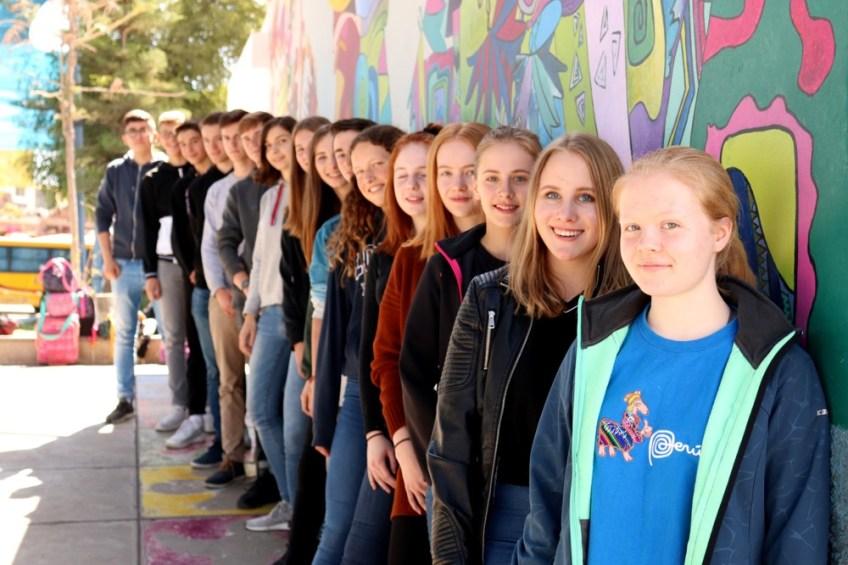 Gesamtschule Petershagen_Abenteuer Peru_Schulklasse mit deutschen und peruanischen Schülern_Juli 2019