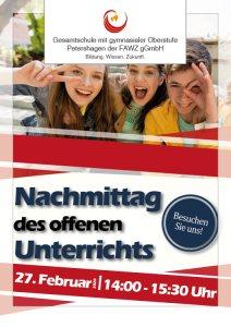 Gesamtschule Petershagen_Nachmittag der offenen Unterrichts am 27. Februar 2020