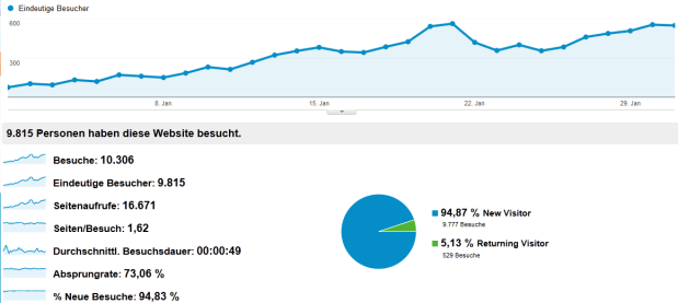 Besucher Statistik Januar 2013
