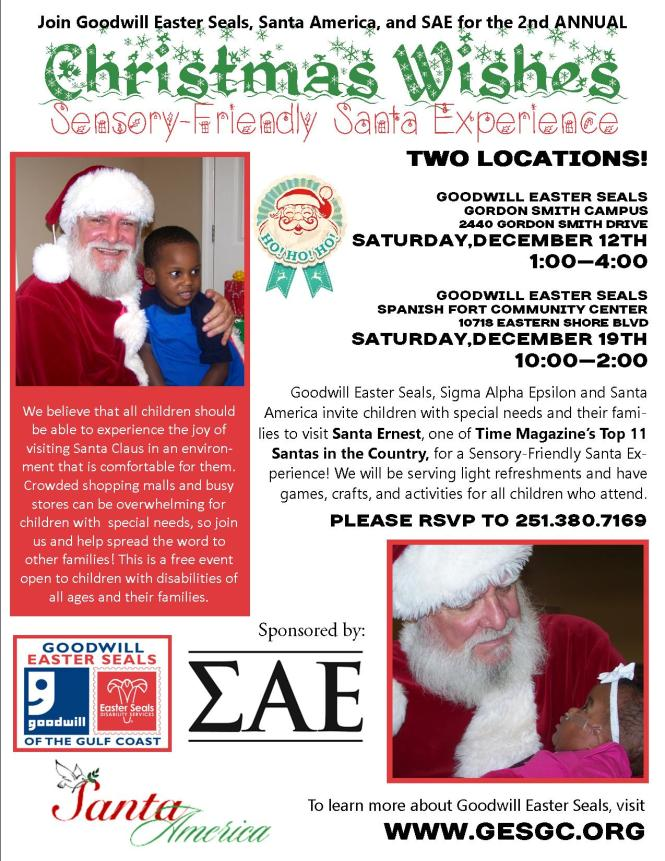 2015 CHRISTMAS WISHES SANTA PARTY FLYER