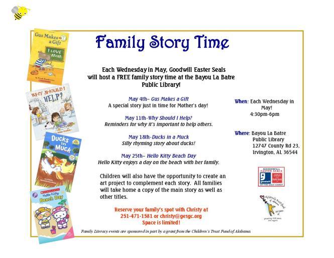 BLB story time