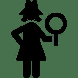 female detective - Gesichtsreinigung