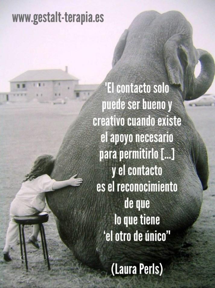 El contacto sólo puede ser, Clotilde Sarrió - Terapia Gestalt Valencia