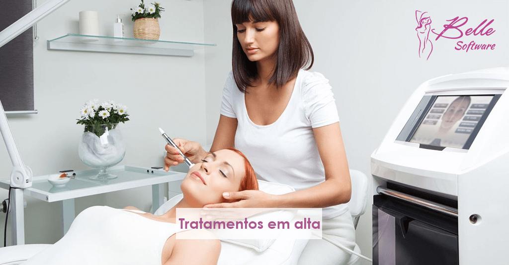 Tratamentos estéticos em alta
