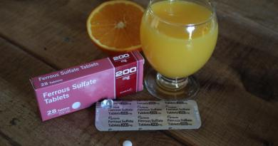 iron tablets and orange juice