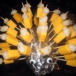party food cheese and onion hedgehog