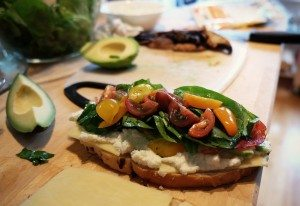 bread alone will cause spikes in blood sugars. Use protein and good fats to pair bread, like this open sandwich