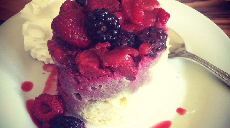 sugar free summer pudding mug cake