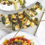 courgette & halloumi skewers