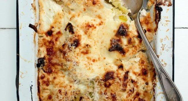 Cauliflower Leek Cheese Bake