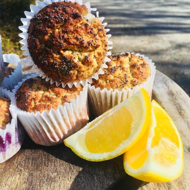 lemon poppy seed breakfast muffins