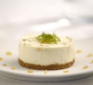 Lime and ginger cheesecake