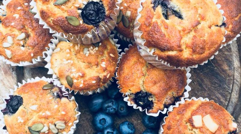 blueberry breakfast muffins nut free version