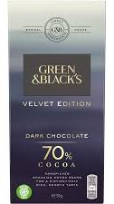 green & blacks velvet