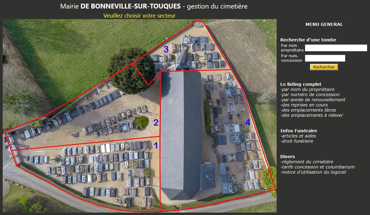 Logiciel cimetière 270 emplacements