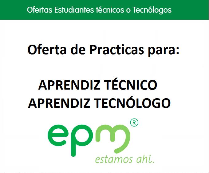 practicas-permanentes-para-tecnicos-o-tecnologo-empresas-publicas-de-medellin-2017
